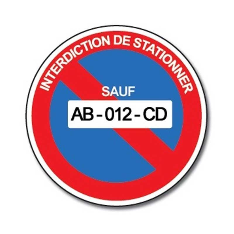 Adh/ésif Autocollant Sticker D/éfense de Stationner Sortie de Voitures Diam/ètre 250 mm