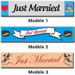 plaque immatriculation spécial mariage 52x11