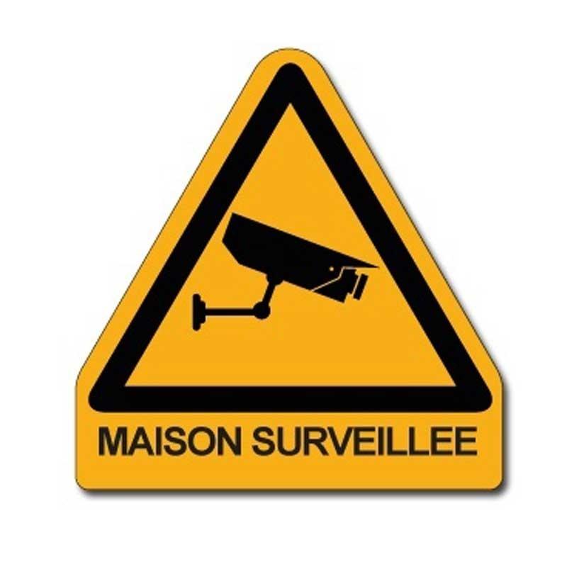 plaque triangle sécurité alarme