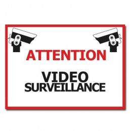 plaque attention vidéosurveillance