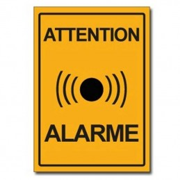plaque attention alarme
