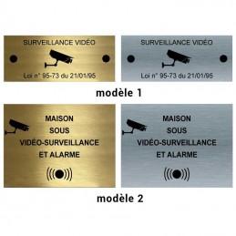 choix modèle plaque alarme métal