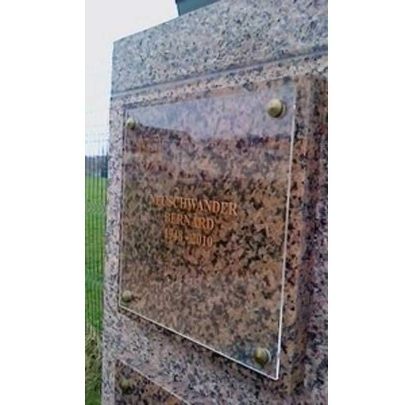 plaque funéraire plexi transparente
