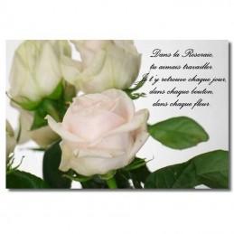 Plaque funéraire Photo Roses
