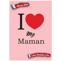 Plaque Love My Maman
