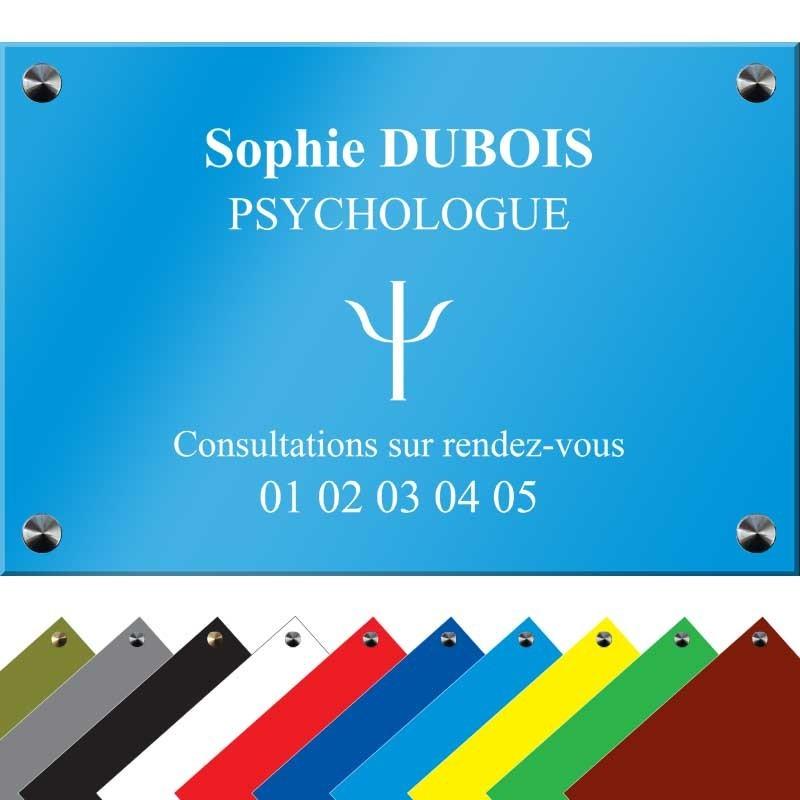 plaque psychologue