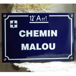 Plaque de rue Marseille