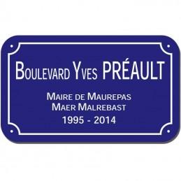 Plaque de rue Villes de Nantes et Rennes