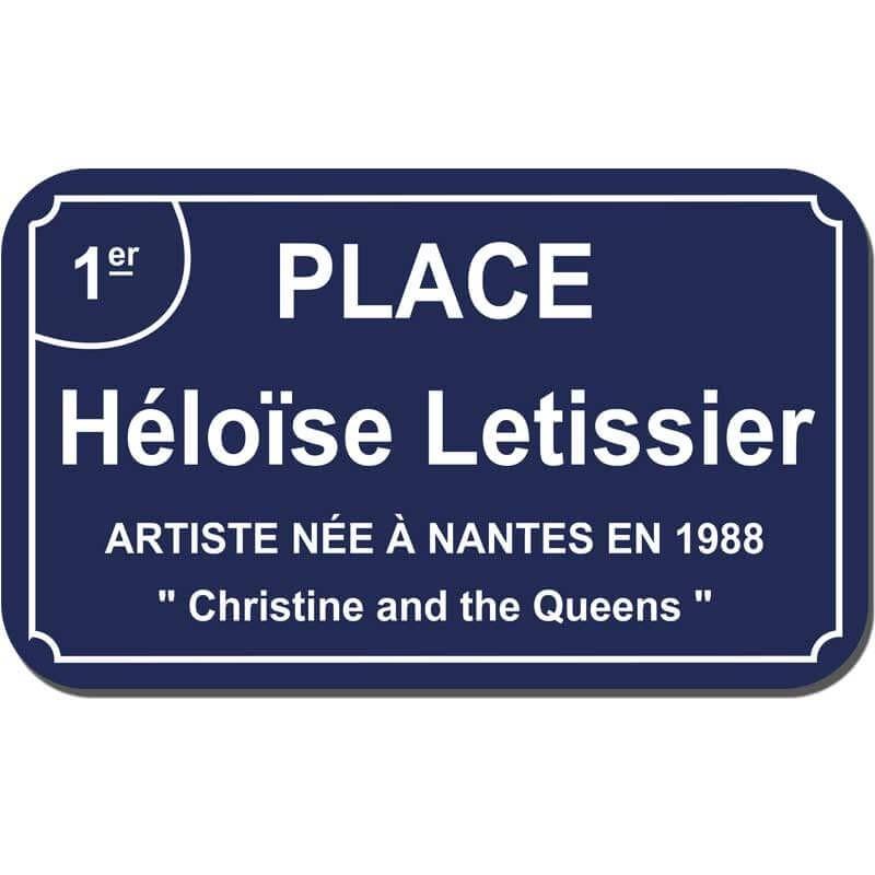 Plaque de rue Nantes ancien arrondisement