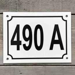 numéro de rue filet simple