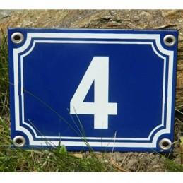 Numéro bleu 20x15cm