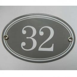 Numéro de rue ovale