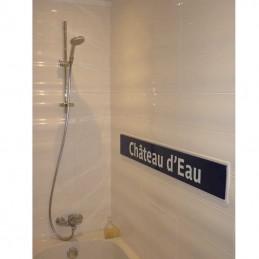 panneau metro salle de bain