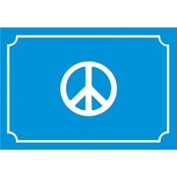 Plaque de Rue Peace and...