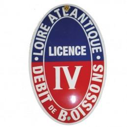 Plaque émaillée Licence IV ovale