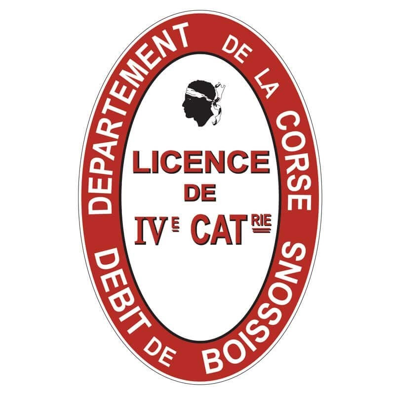 Plaque émaillée Licence IV Corse
