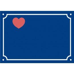 Plaque Saint Valentin Coeur...