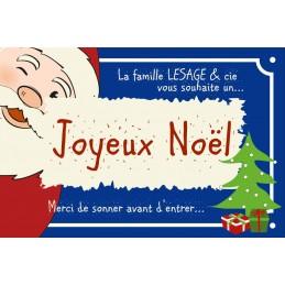 Plaque Accueil Père Noël