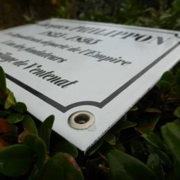 Plaque cimetière émaillée