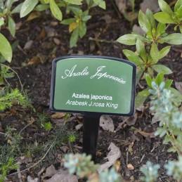 Plaque émaillée jardin