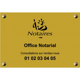 Plaque Notaire