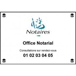 Plaque Notaire quadri