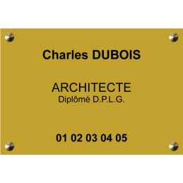 Plaque Architecte