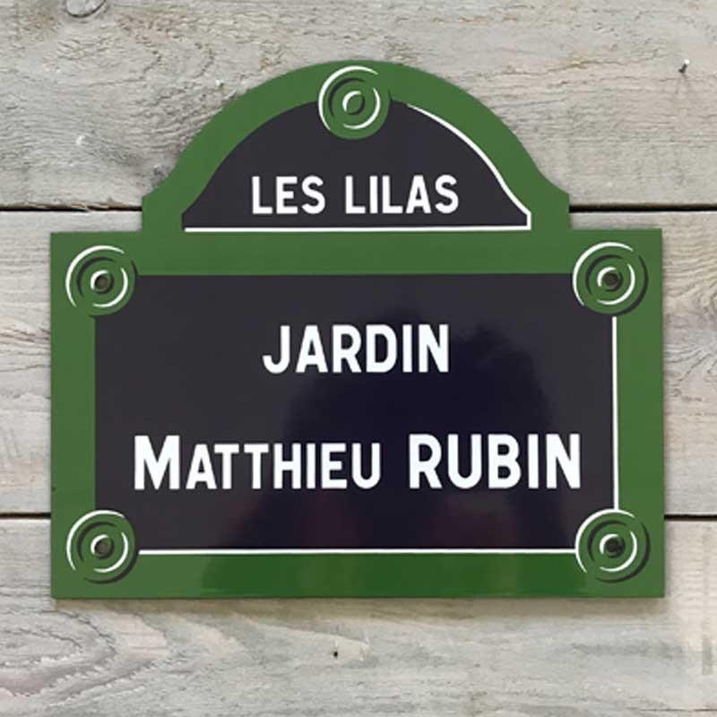 Ma plaque fronton parisienne