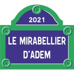 Plaque de rue Paris ROUSSEL