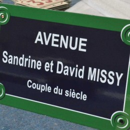 Plaque de Rue Paris