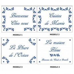 Modèles fleurs bleues