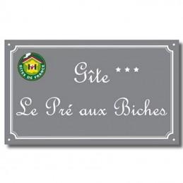 Plaque Gîte de France émail