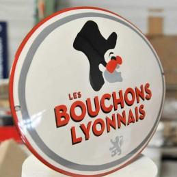 Plaque émail Bouchons Lyonnais