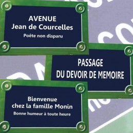 Plaque du Rue Paris