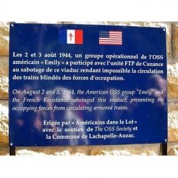 Plaque commémorative émail