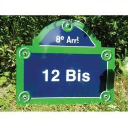 Numéro de rue Paris fronton