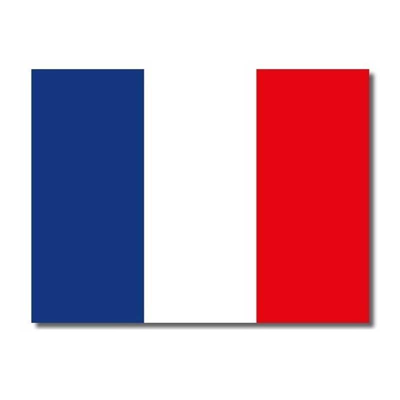 Plaque émail drapeau français