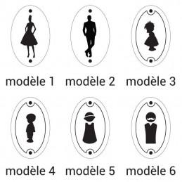 modèles picto plaques toilettes