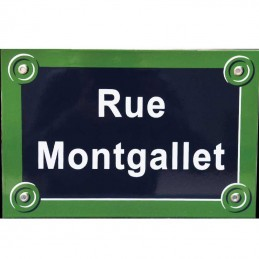Plaque de rue Paris
