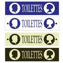 plaque émail toilettes