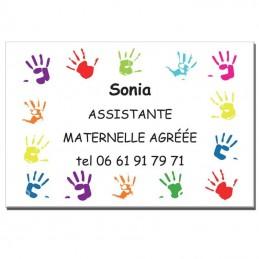 Plaque Assistante Maternelle thème Mains