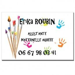 Plaque Assistante Maternelle thème Peinture