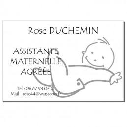 Plaque Assistante Maternelle thème Bébé