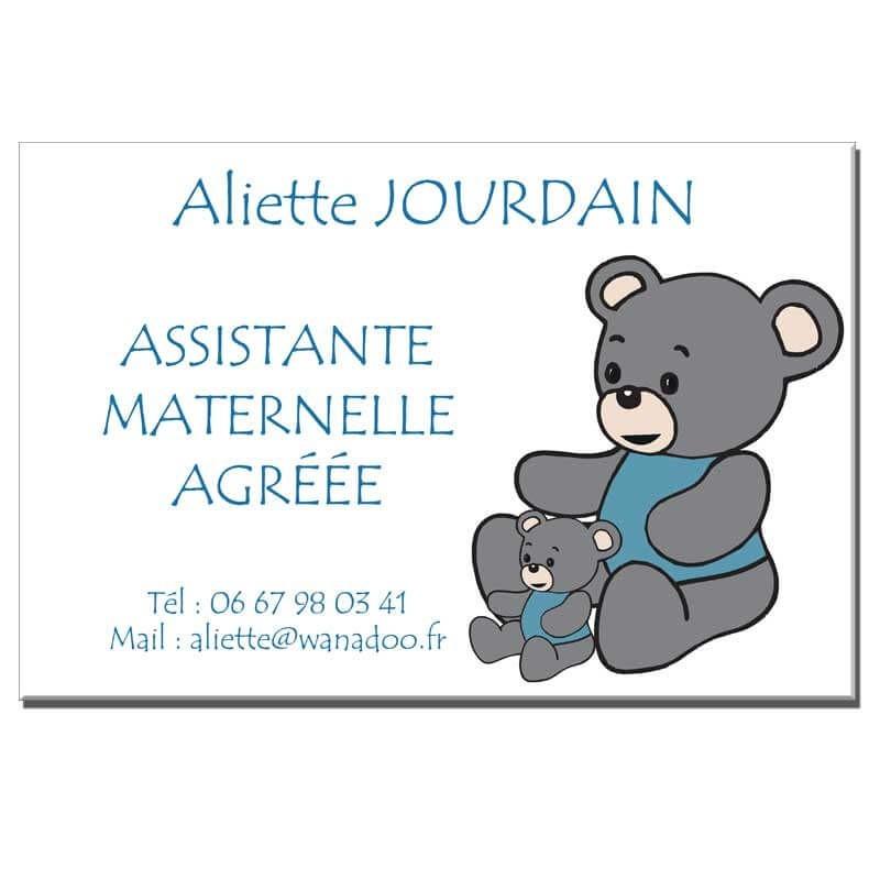 Plaque Assistante Maternelle thème Ourson