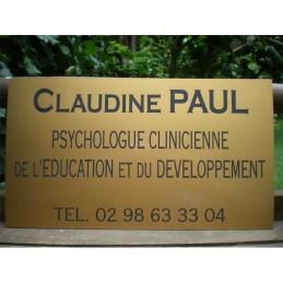 plaque acrylique or