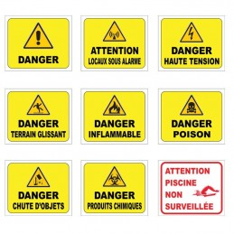 Signalétique danger