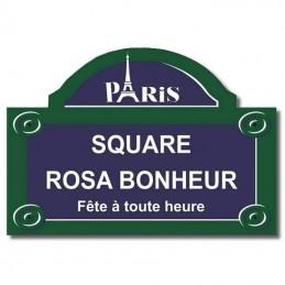 Plaque parisienne Tour Eiffel Cadeau