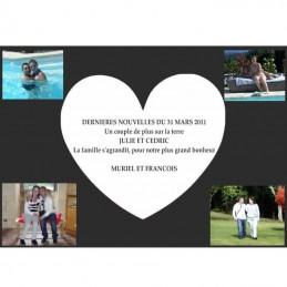 Plaque coeur et photos