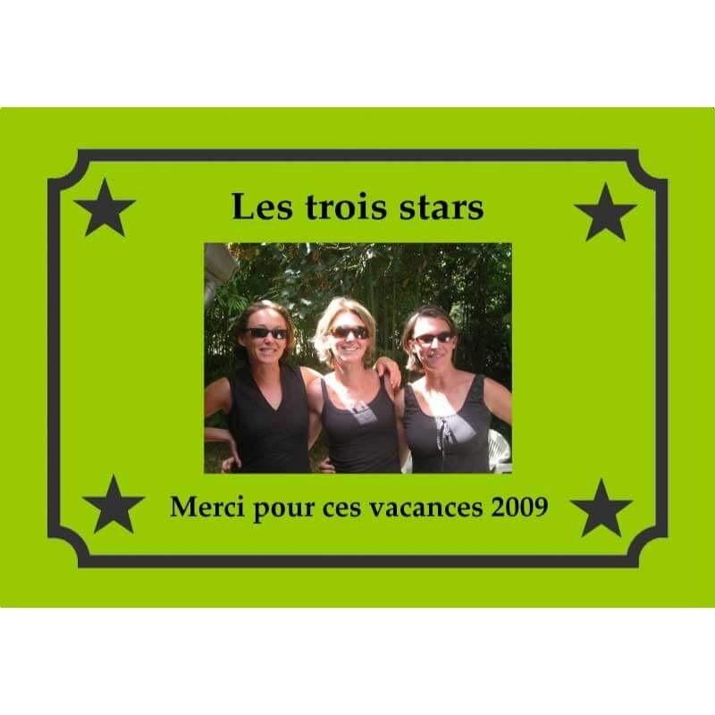 Plaque cadeau photo avec étoiles
