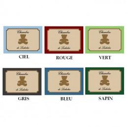 choix couleurs plaque ourson